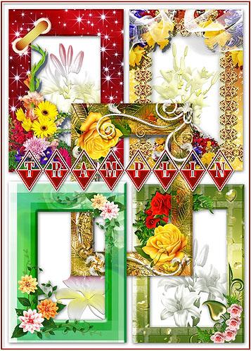 Сборник цветочных рамок – Их красок полная палитра, всегда волнует чей-то взор