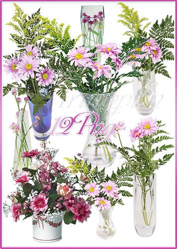 Клипарт – Букеты в вазе