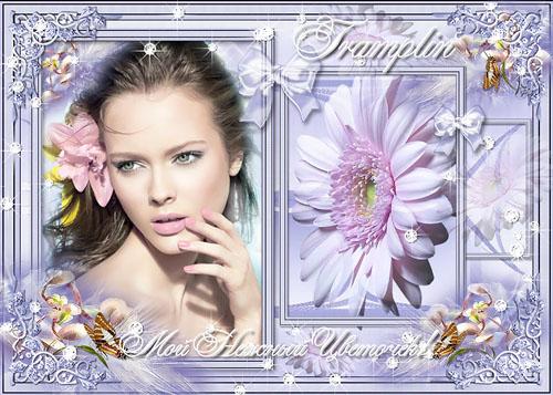 Рамка для фото – Мой нежный цветочек весны