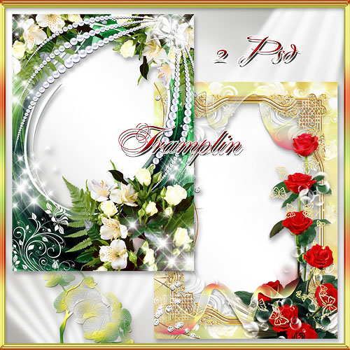 2 цветочные рамки - Цветы как всё, дары природы