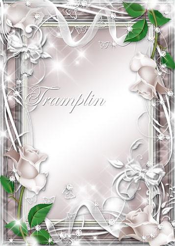 Рамка для фото – Терракотовая с розочками, бантиками, бабочками