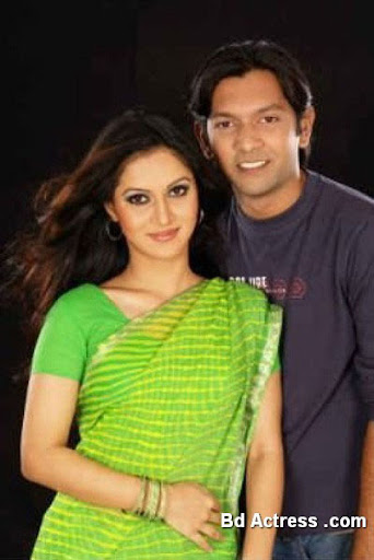 Bangladeshi Model Mithila and her husband