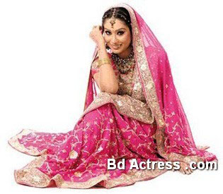 Bangladeshi Model Momo marriage dress