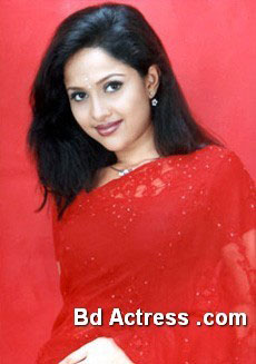Bangladeshi Model Nadia Ahmed red saree