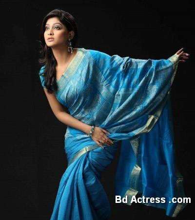 Bangladeshi Model Sarika blue saree