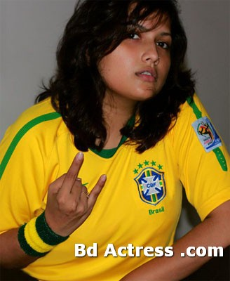 Nadia Nasim Chaity in T-shirt