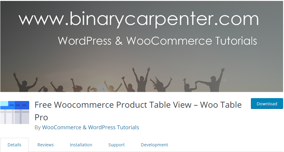 Responsive WooCommerce product table alternative