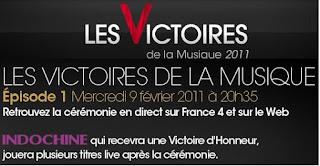 Invité d'honneur ce soir aux Victoires de la Musique 2011 | Invitado de honor esta noche en las Victoires de la Musique 2011