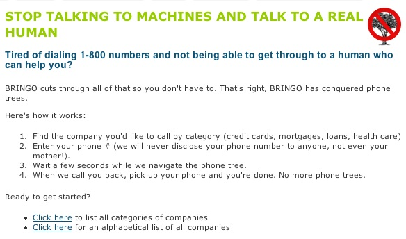 Stop talking to machines