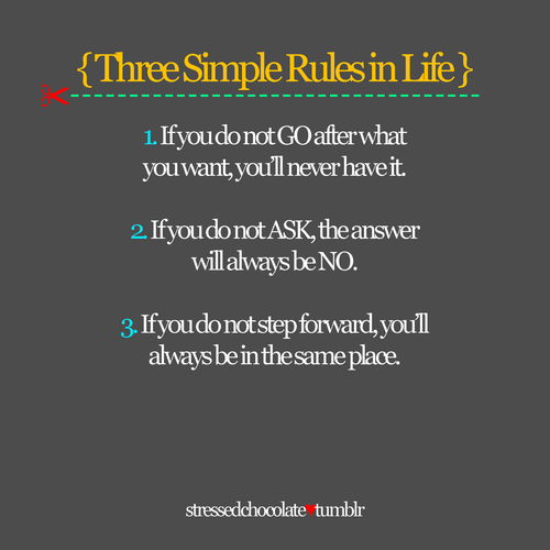 Three Simple Rules...