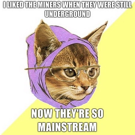 Usually don't like the Hipster Cat meme, but...
