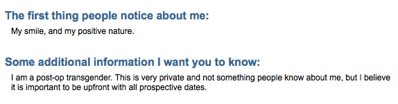 Seriously, eHarmony? Can't you at least screen out the trannies?!?