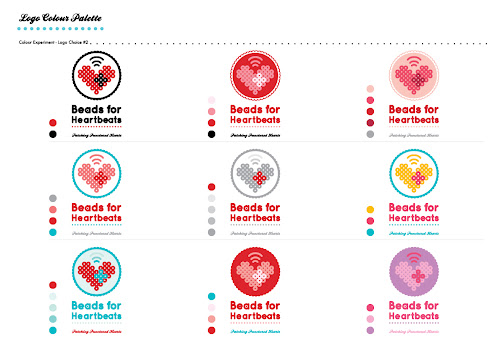 beads for heartbeats caign branding logo design process