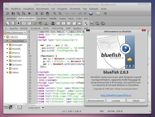 Bluefish 2.0.3
