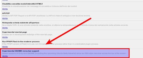Chrome aggiunge il supporto per il Global Menu di Ubuntu 11.04