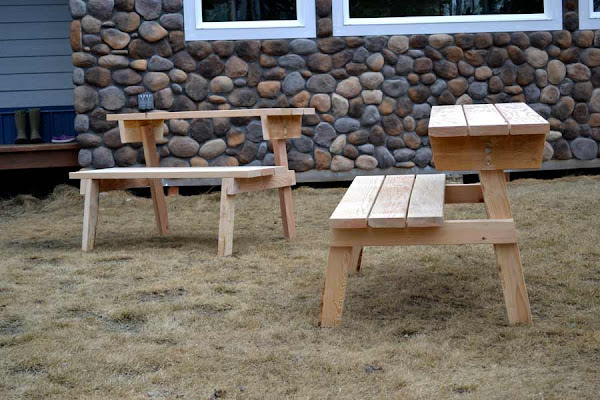 Tremendous Picnic Table That Converts To Benches Ana White Dailytribune Chair Design For Home Dailytribuneorg