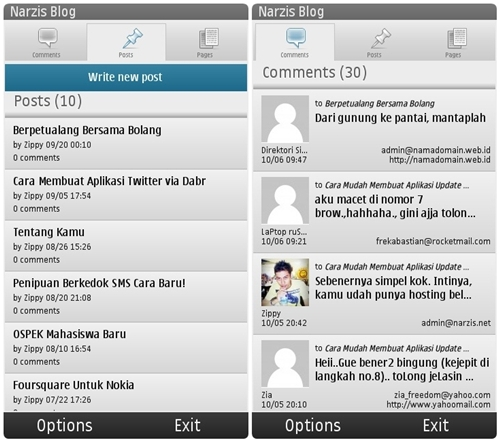 WordPress Untuk Nokia