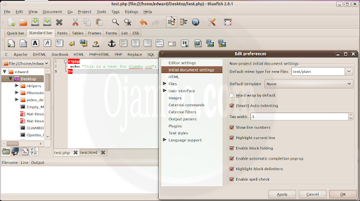 Ojambo Review Lightweight Programming Editors