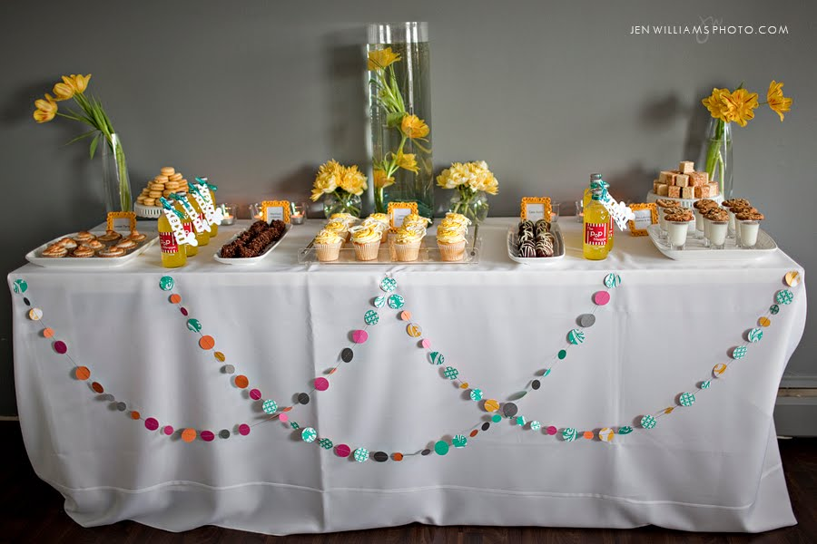 Gorgeous inexpensive dessert table!