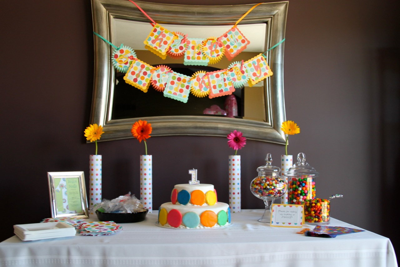 Sweet Polka Dot Dessert Table