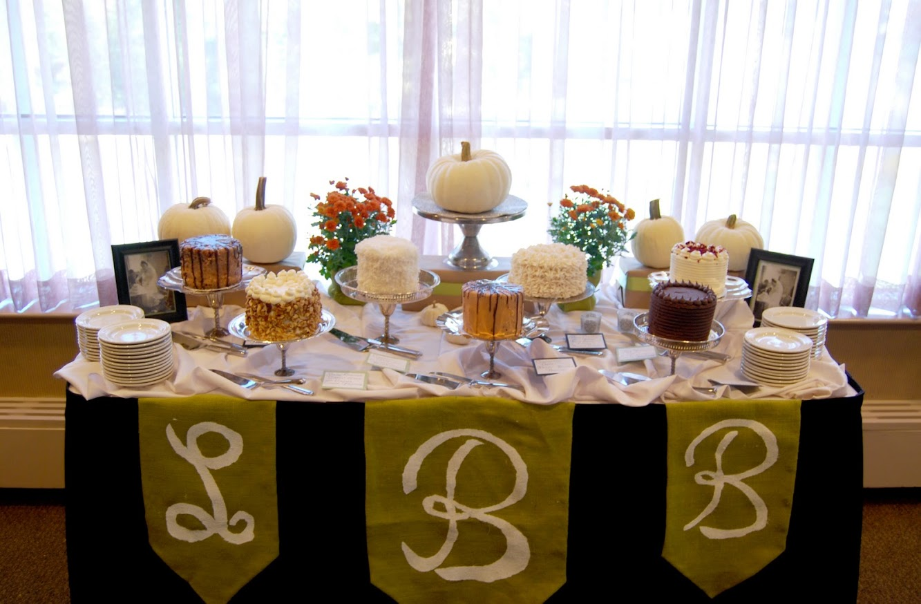 White Pumpkin Dessert Table