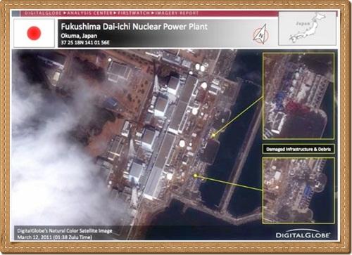 fukushima dai ichi nuclear power plant satellite photos Japan Earthquake Nuclear