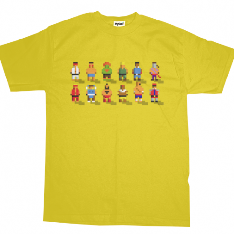 Pixel Fighter 2 - Camisa do Street Fighter 2 em 8 Bits