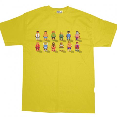 Pixel Fighter 2 - Camisa do Street Fighter 2 em 8 Bits