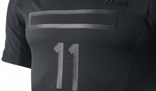 Novo Uniforme Camisa Preto da Seleção Brasileira