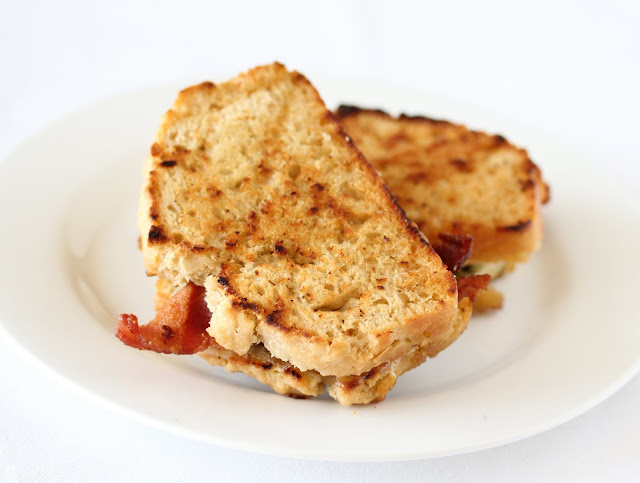 Beer Bread Grilled Cheese Sandwich