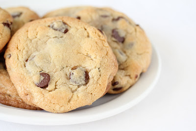 close-up photo of a chocolate chip cookie