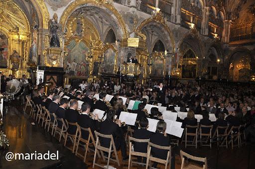 Banda Municipal Música Ejea (Director Javier Comenge) Concierto Sonidos de Semana Santa en el Real Monasterio San Carlos Zaragoza 2