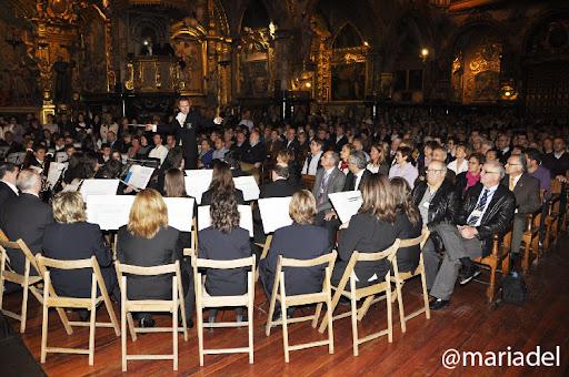 Banda Municipal Música Ejea (Director Javier Comenge) Concierto Sonidos de Semana Santa en el Real Monasterio San Carlos Zaragoza 3