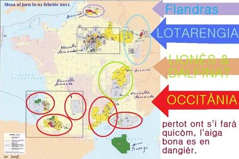 Mapa dels permís franceses per idrocarburs-01-02-11-demandas del gaz de schista