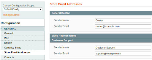 Store Email Addresses