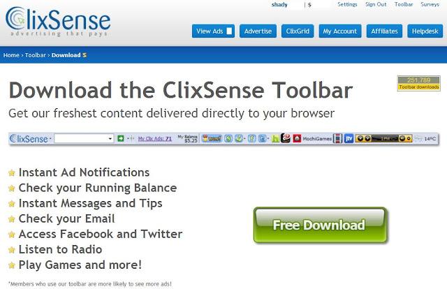 الشركة العملاقة ClixSense الربح الشركه