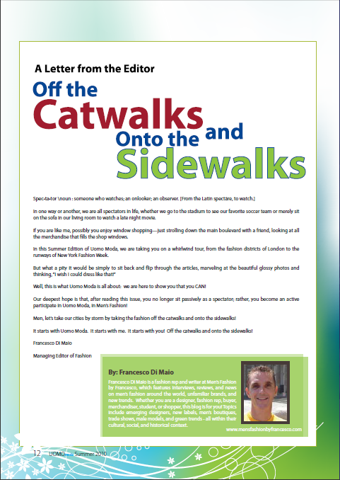 Off the Catwalks and Onto the Sidewalks