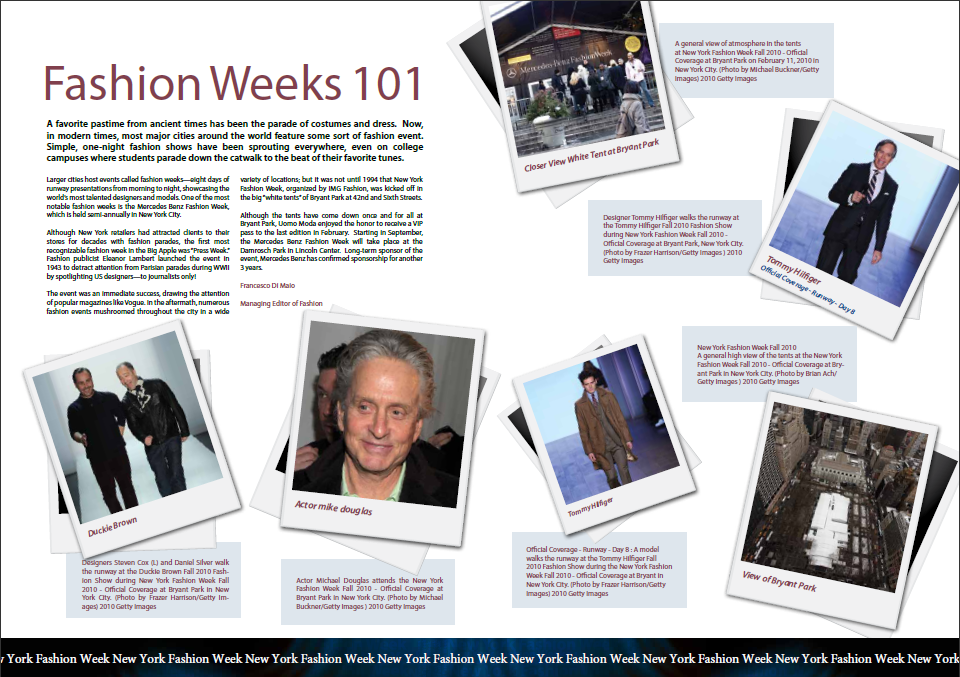 Uomo Moda: Fashion Weeks 101