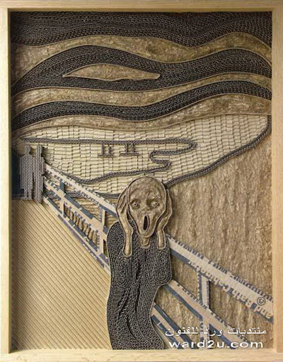 تابلوهات رائعه من الكرتون المضلع والساده للفنان Mark Langan