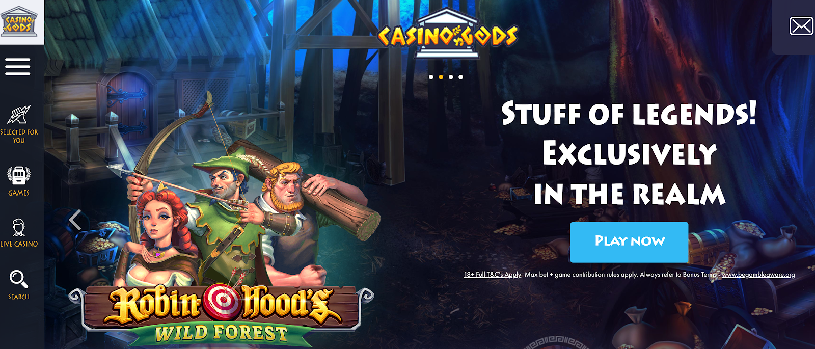 Robin Hood's Wild Forest is one of the many games you can play at Casino Gods