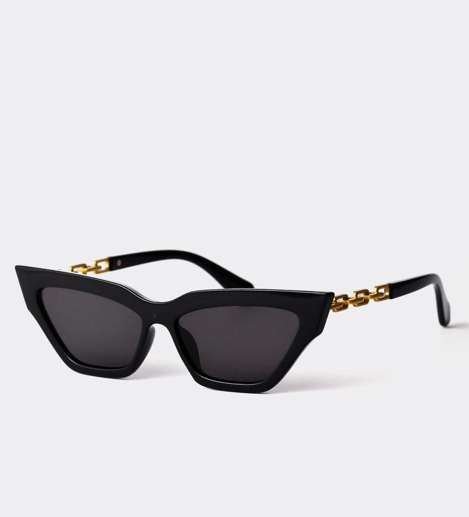 Roseau Black, modne okulary koty z łańcuszkiem