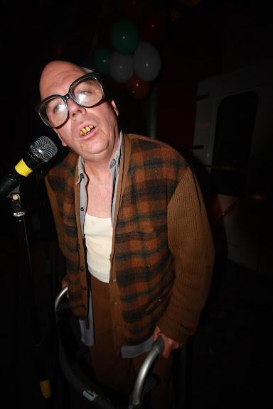 Michael McGinnis as an old man