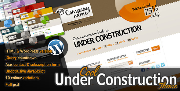 Cool Under Construction Template