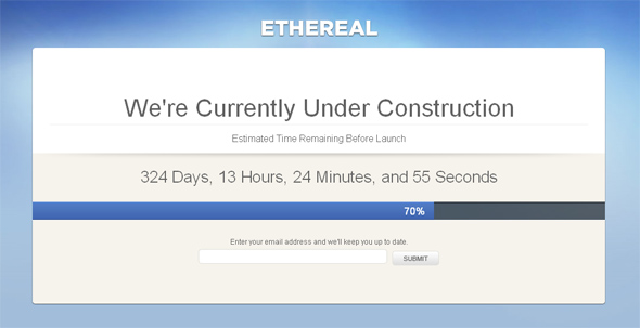 Ethereal Under Construction Template