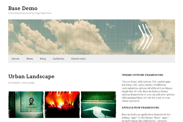 Base WordPress Theme Framework