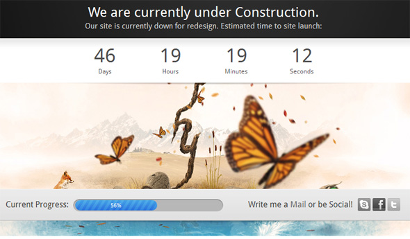 Adele Countdown Under Construction Template