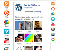 Social Slider Social Media Plugin Front-end