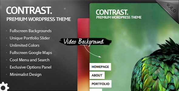 PContrast Fullscreen WordPress Portfolio Theme
