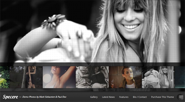 Specere Fullscreen WordPress Portfolio Theme