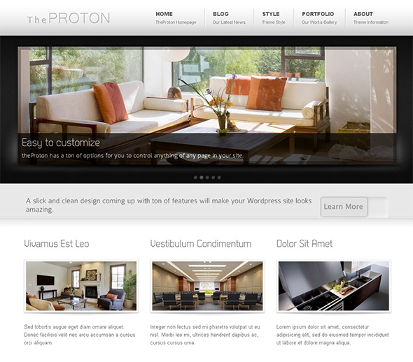 The Proton Elegant and Free WordPress Theme
